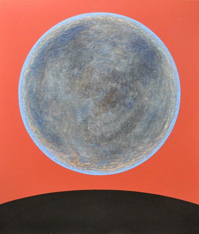 'Extinction', acrylic on canvas, 183 x 168 cms