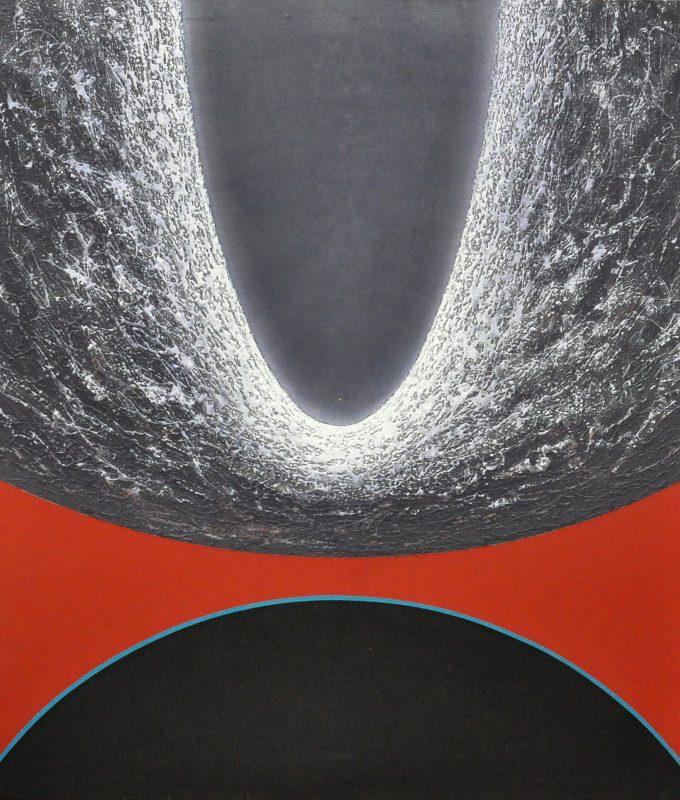 'Comet 67 (P)', acrylic on canvas, 183 x 168 cms